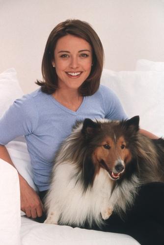 Christa Miller wallpaper possibly with a shetland sheepdog entitled Christa Miller