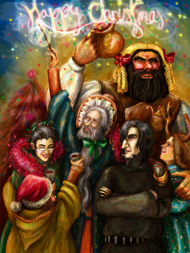 क्रिस्मस at Hogwarts