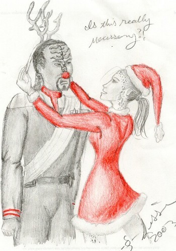 Krismas with Worf and Jadzia