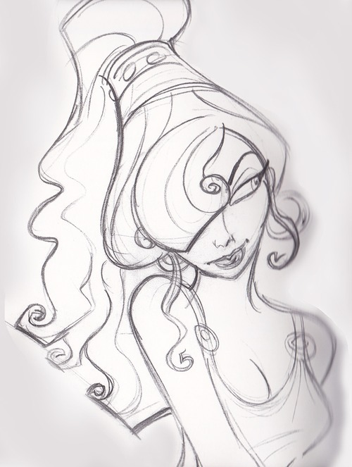 Concept art of Meg