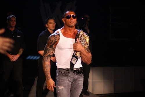 WWE wallpaper containing sunglasses titled Dave Batista