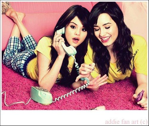 Demi&Selena ছবি