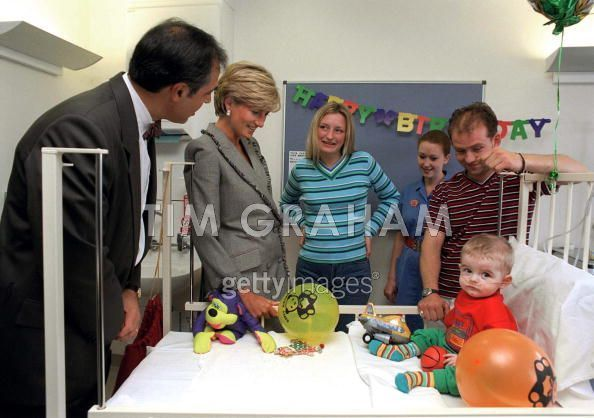 Diana Visits Children Hospital