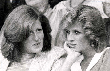 Diana's sister Jane at Wimbledon in 1984