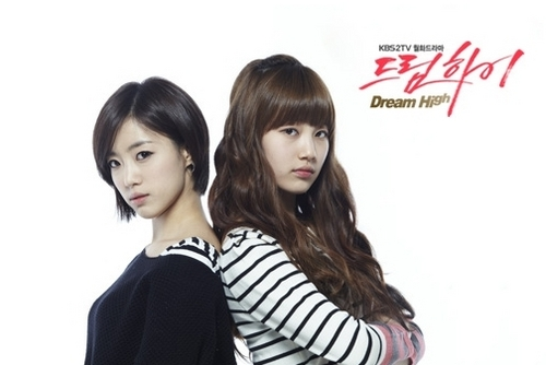 Dream High karatasi la kupamba ukuta with a portrait titled Dream High - Eunjung & Suzy As Yoon Becky & Ko Hye-Mi