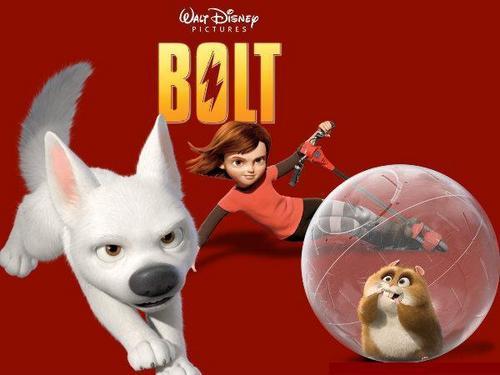 Disney's Bolt wallpaper entitled EXLUSIVE: Bolt, Rhino, and Penny