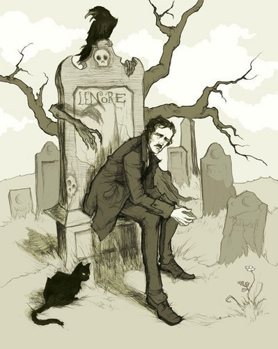 Edgar Allan Poe 壁纸 possibly with a street, a newspaper, and 日本动漫 titled Edgar Picture