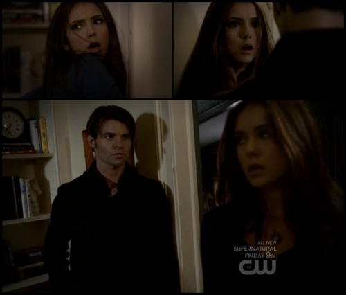The Vampire Diaries پیپر وال containing a portrait titled Elijah and elena
