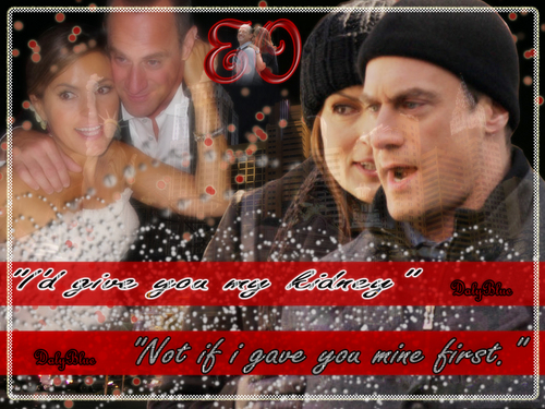 Elliot and Olivia wallpaper with a sign titled Eo