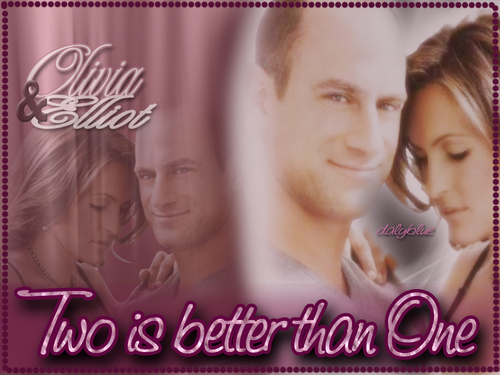 Elliot and Olivia wallpaper with a portrait titled Eo