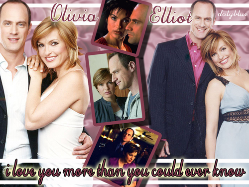 Elliot and Olivia wallpaper with a bridesmaid, a business suit, and a cocktail dress entitled Eo