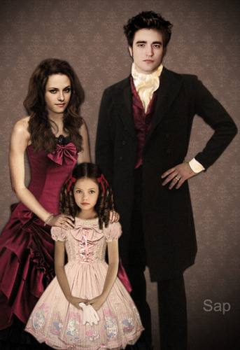 renesmee carlie cullen wallpaper probably containing a well dressed person, a bridesmaid, and a business suit called fã Arts