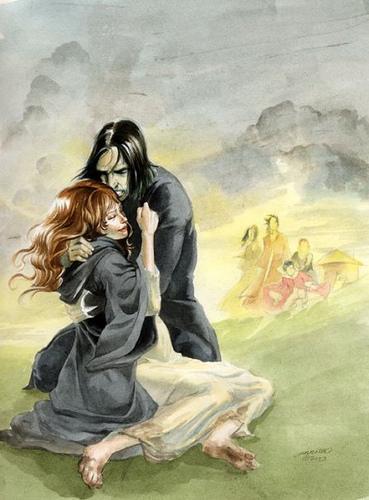 Fan Arts - Severus Snape & Lily Evans 369x500