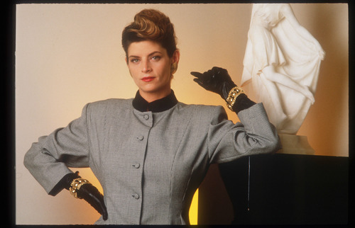 Kirstie Alley achtergrond with an outerwear titled Firooz Zahedi Photoshoot
