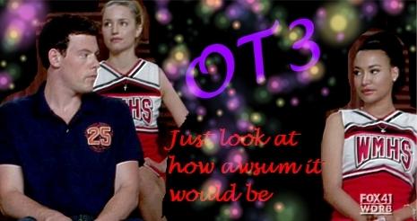 글리 OT3 Quinn,Finn & Santana (Made 의해 me)