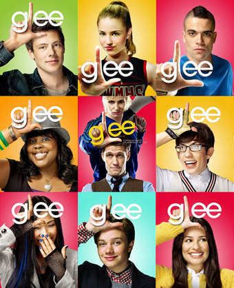 glee wallpaper probably with a portrait titled glee posters