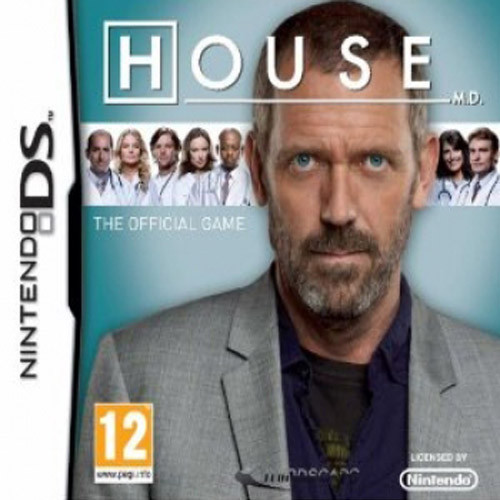 House, M.D. karatasi la kupamba ukuta possibly containing a portrait titled HOUSE GAME Nintendo DS
