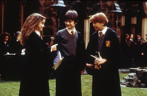 Emma, Dan & Rupert behind the scenes :))