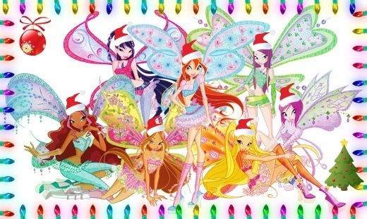 Новый год с винкс и аниме, картинки и игра для девочек!