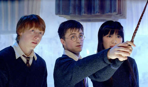 Harry,Ron and Cho