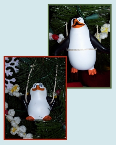 Improvised pinguïn Ornaments