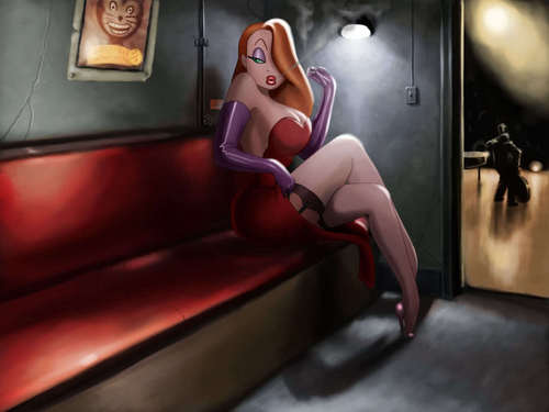 Jessica Rabbit hình nền possibly containing a family room and a drawing room titled Jessica wp
