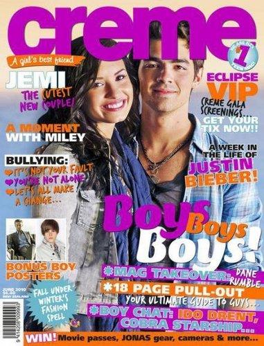 Joe Jonas & Demi Lovato 'CREME' magzine