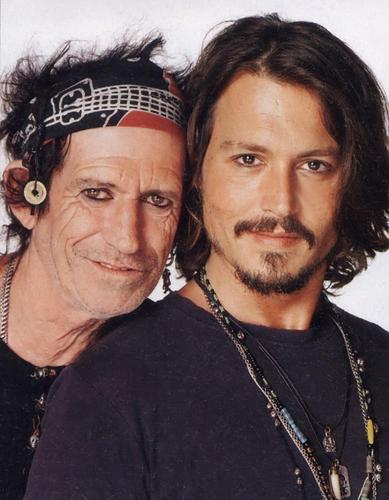 Johnny Depp wallpaper possibly with a portrait entitled Johnny Depp and Keith Richards