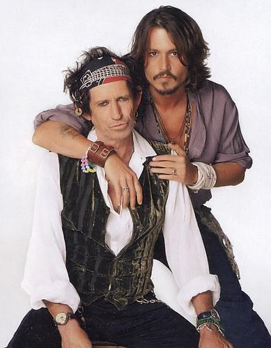 Johnny Depp and Keith Richards