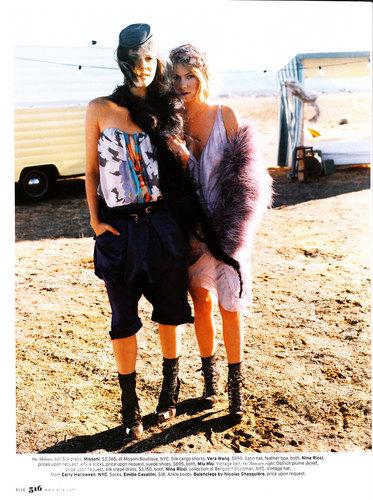 Laura & Jena Malone in Elle Magazine - March 2008