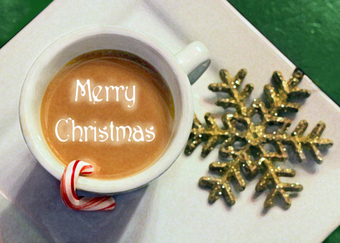 Coffee wallpaper probably containing a coffee break and a black tea titled Merry Christmas
