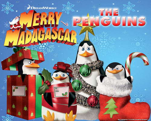 Merry madagascar - penguins-of-madagascar Wallpaper