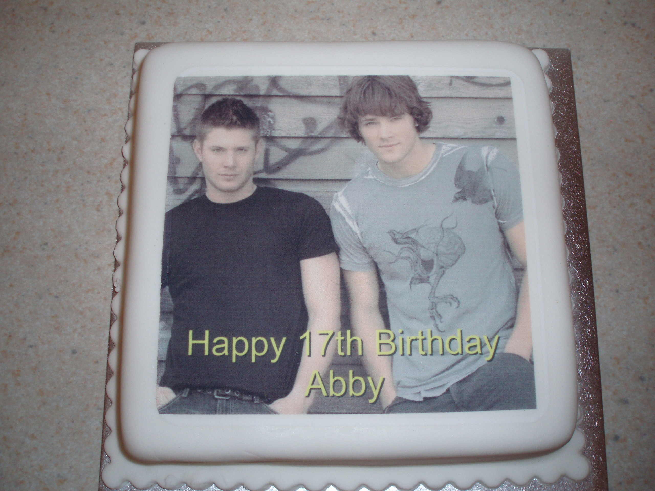 Supernatural Images My 17th Birthday Cakee