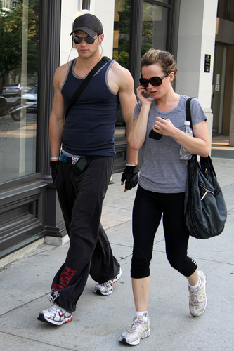 New/Old candid of Elizabeth downtown with Kellan Lutz.