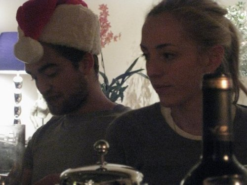 New/Old pic of Rob and his sister on Christmas - robert-pattinson Photo