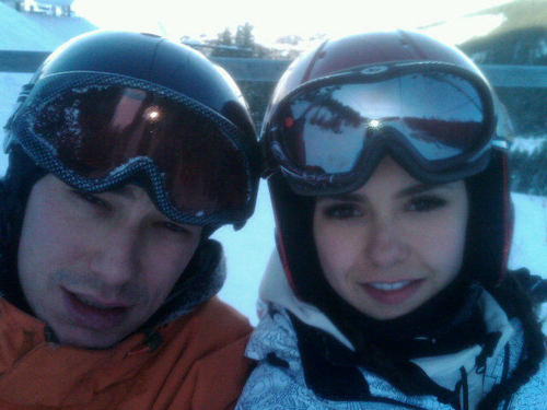 Nina ski with her brother :)