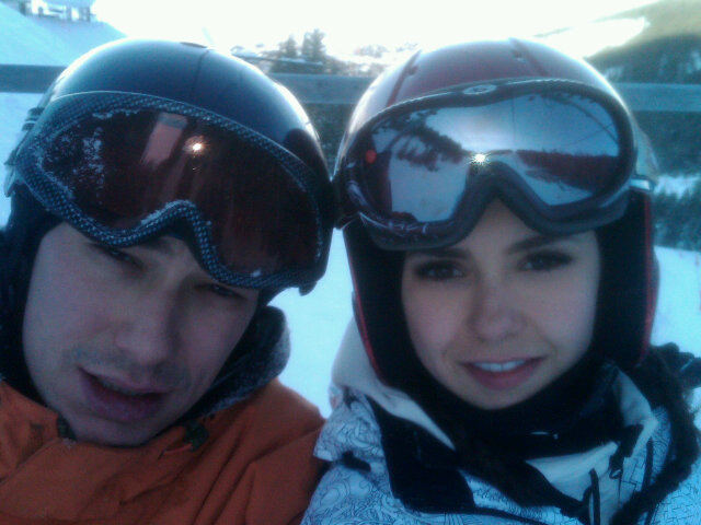 Nina skiing with her brother :) - nina-dobrev photo