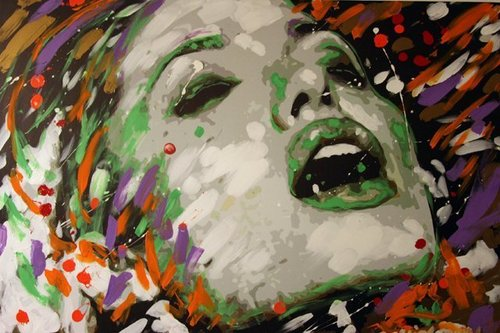 Oil and acryl paintings of Angelina Jolie