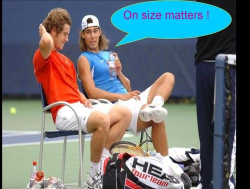 Tennis wallpaper entitled On size matters !!!!!!!!
