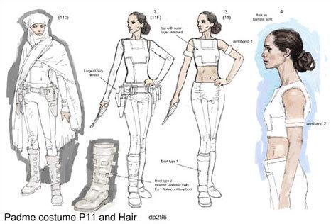 Padmé Costume Sketch