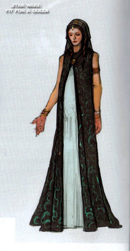 Padmé Costume Sketch