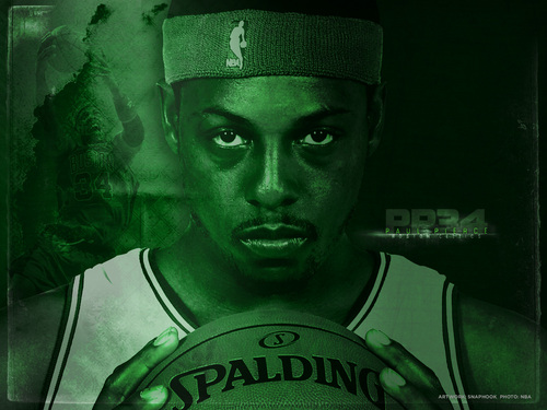 Boston Celtics kertas dinding titled Paul Pierce