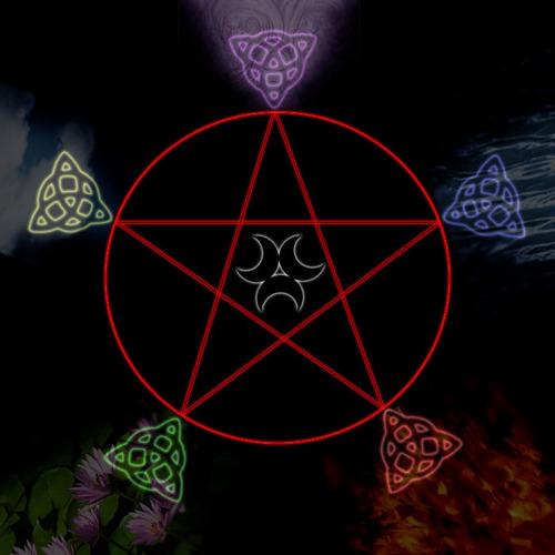 wiccan pentagram wallpaper - photo #22