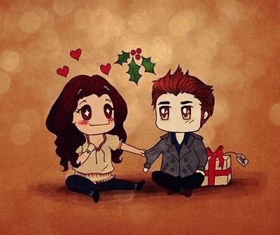 Preciosos Edward y Bella en navidad!
