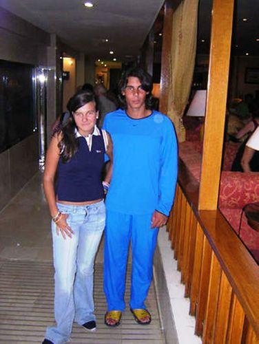 Rafael Nadal in pyjamas