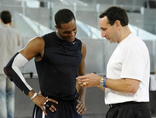 Rajon Rondo 바탕화면 called Rajon-Rondo-and-Mike-Krzyzewski