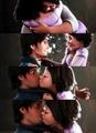 Rapunzel & Eugene (Flynn)'s first kiss
