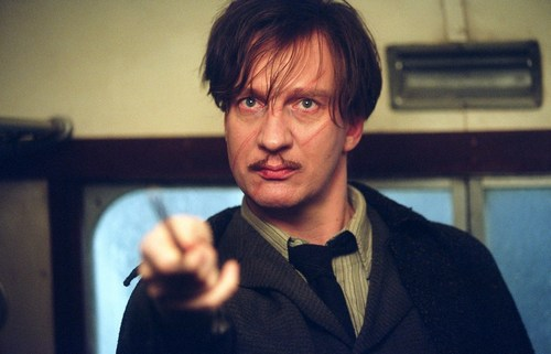 Remus with his wand