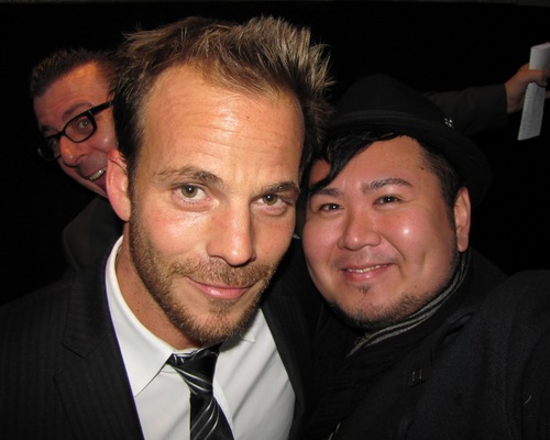 Richard Crouse, Stephen Dorff and Mr. Will-W at the Premiere of Somewhere in Toronto