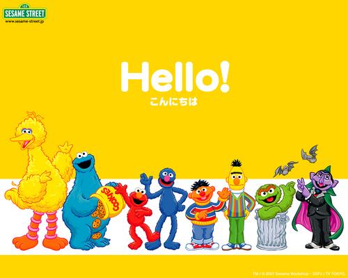 Sesame Street wallpaper with anime called Sesame Street Learn Japanese